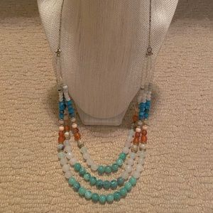 Ann Taylor LOFT Multi Color Beaded Long Necklace